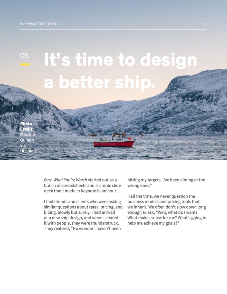 Design a better ship