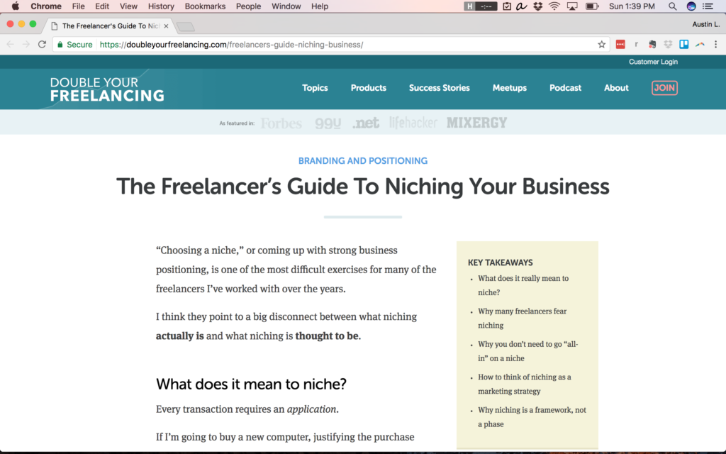 tips for picking freelance niches