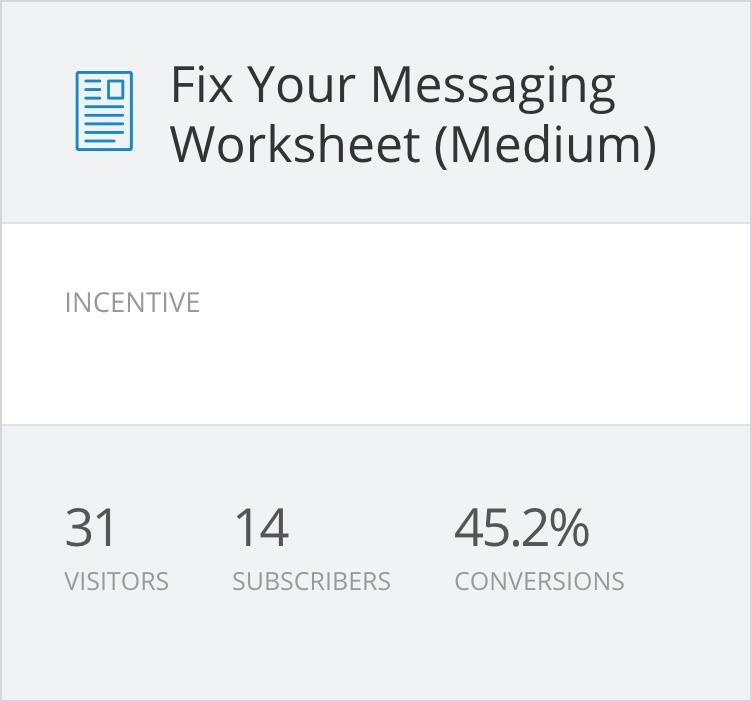 Fix Your Messaging Worksheet
