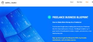 Screenshot of Austin L. Church's Freelance Business Blueprint