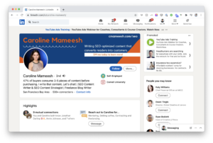 LinkedIn Profile of Caroline Mameesh
