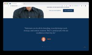 Testimonials on Balernum Homepage